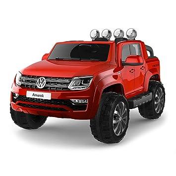 giordano shop Coche máquina eléctrica Volkswagen PK Amarok 4 x 4 Roja 12 V 2 Plazas