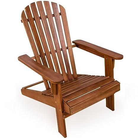 Yopih Adirondack silla de madera plegable madera Patio sun ...
