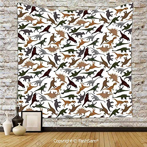 FashSam Tapestry Wall Hanging Pattern with Dinosaurs Enormous Museum History Cartoony Illustration Tapestries Dorm Living Room Bedroom(W39xL59) ()
