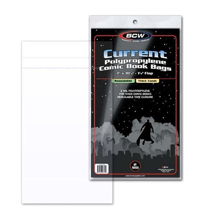 BCW Current resellable bolsas de cómics de grosor - 1 pack ...