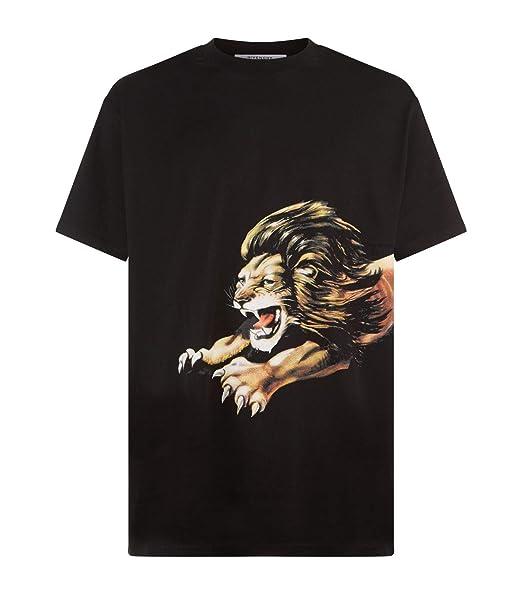 5594f454 Givenchy Leo Oversized Lion Print T-Shirt Top Tee Signature Black:  Amazon.co.uk: Clothing