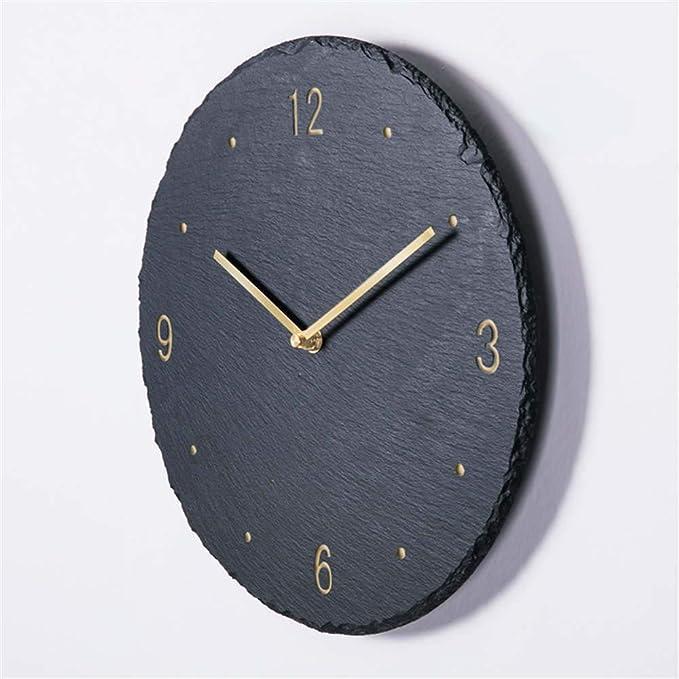Image of NXSP Reloj de Pared Negro de diseño Moderno,Mecanismo Pow Patrol Art Decor Clock Living Room