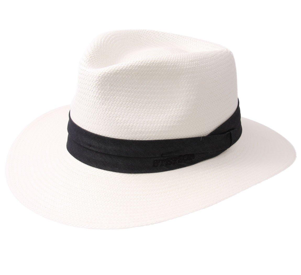 Stetson Jefferson Panama Bleached Fedora Hat Size S