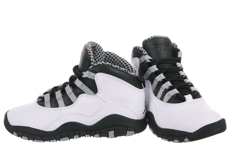 Nike Air Jordan 10 X Retrò Grigio Acciaio Camera Da Letto In Bianco E Nero RkL93Lt