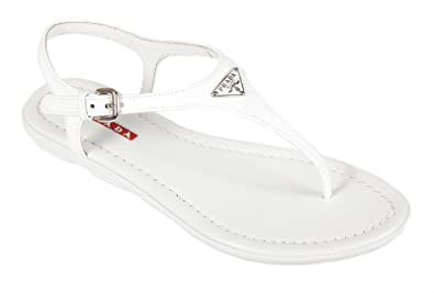 0dd56138a Prada women s leather flip flops sandals white UK size 2 3Y5691 O6E F0009