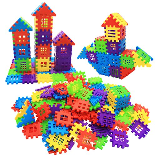 MICHLEY Builder Sets for Kids 140-Piece Interlocking Builders Blocks, Classic by MICHLEY