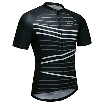 bcd9891f0 Wantdo Men s Cycling Jersey Bike Short Sleeve Shirt Full Zip Bicycle Jacket  with Pockets Small