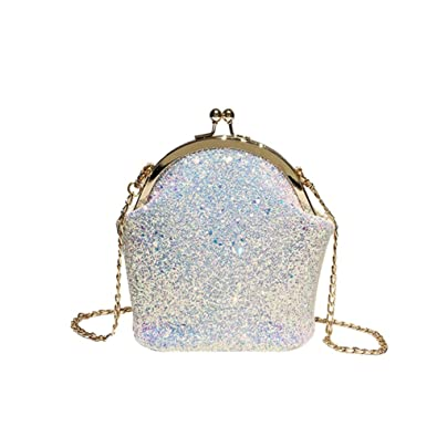 Amazon.com: Bolso de hombro con lentejuelas diagonales ...