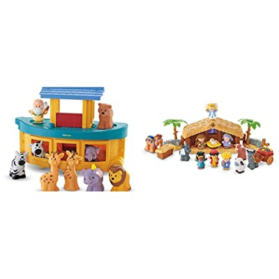 Fisher-Price Little People Noah's Ark & Little People A Christmas Story: Toys & Games