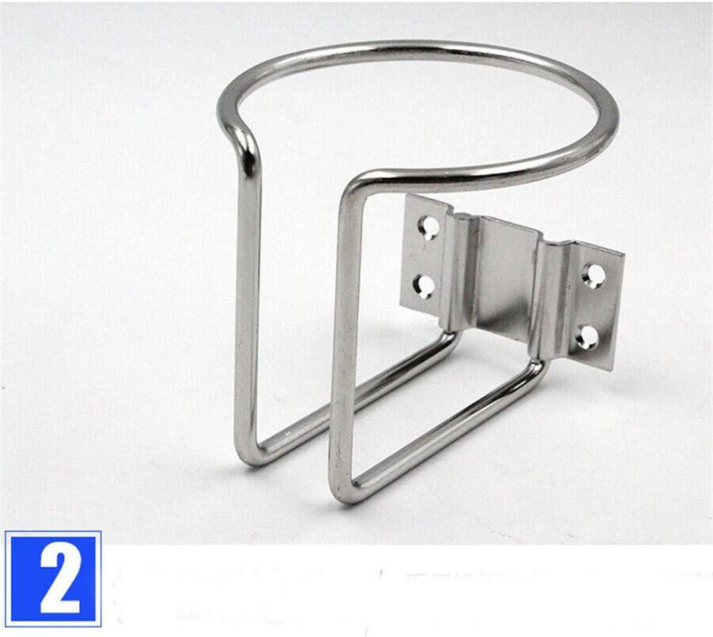 DIYARTS 1 Pcs//Set Universal Boat Ring Cup Holder Stainless Steel Ringlike Drink Holder for Marine Yacht Trailer RV Car Truck