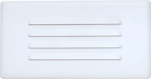 NICOR Lighting 10 inch Louvered Glass Step Light Faceplate Cover 15811COVER