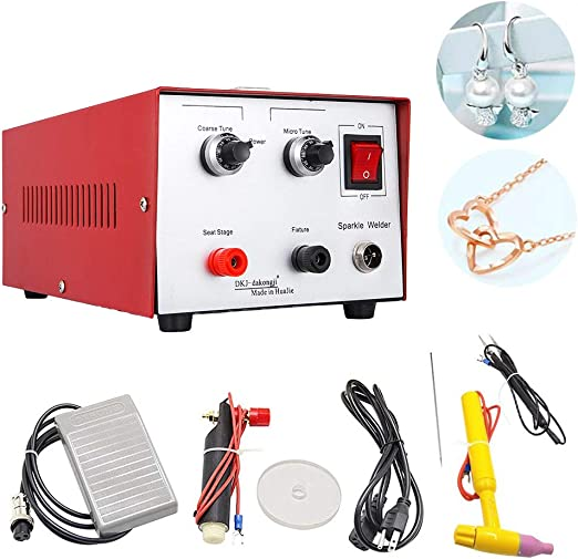 NEW Jewelry welding machine Spot Welder 400W 50A Gold Silver Platinum Palladium