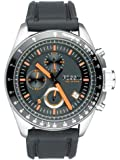 Fossil Men's Black Dial Silicone Band Watch - CH2647