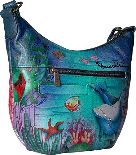 Anuschka Medium Bucket Hobodolphin World, Dolphin World by ANUSCHKA (Image #1)