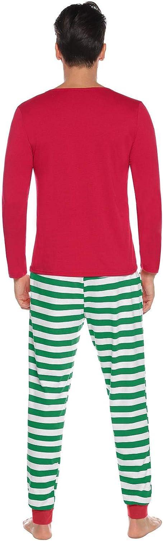 Abollria Pijamas de Navidad Familia Conjunto Pantalon y Top Pijamas Mujer Hombre Invierno Manga Larga Pijama 2 Piezas Ropa de Dormir para Beb/és Mam/á Pap/á Homewear Sleepsuit