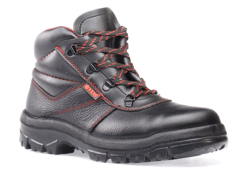 RUGGEDIM YDS Safety Boots with Steel Toe   Anti-Static, Shock Absorbent Work Boots,Black,11 D(M) US