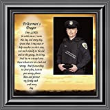 peace picture frame - Policemans Prayer, Personalized Picture Frame Gifts for Men Police Officer, Gifts for Cops, 10x10 6594B