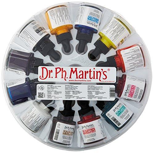 Dr. Ph. Martin's 400255-XXX Hydrus Fine Art Watercolor Bottles, 1.0 oz, Set of 12 (Set 1)