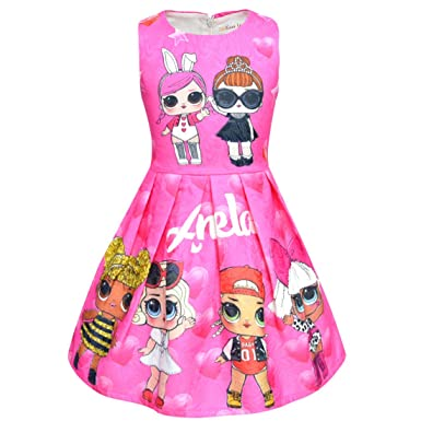 Amazon.com: UPSTONE LOL Dress Clothing for Girls| Pink ...
