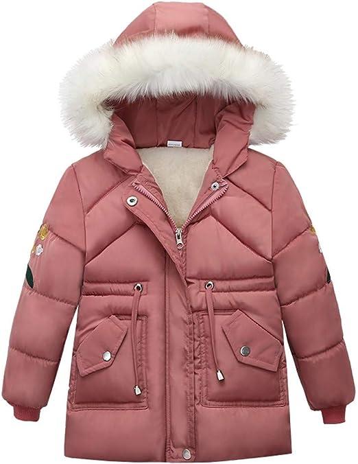 Toddler Kids Girls Boy Winter Warm Coats Jacket Zip Thick Snow Hoodie Outwear US