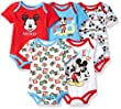Disney Baby Boys' Mickey 5 Pack Bodysuits