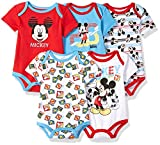Apparel : Disney Baby Boys' Mickey 5 Pack Bodysuits