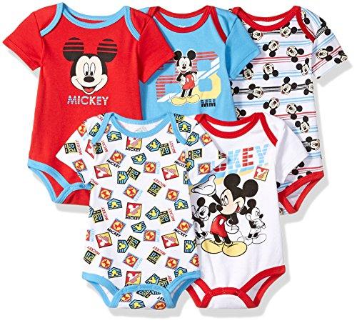 Disney Baby Boys Mickey Bodysuits