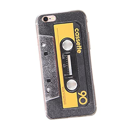 new concept b8841 d2769 Soft Rubber TPU Protective Back Cover Case for iPhone X Retro Design Gel  Skin Case - Yellow Audio Tape