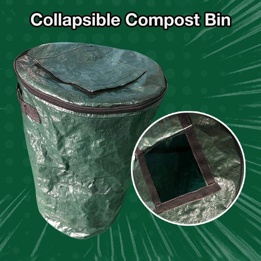 /Gartenkomposter zusammenklappbarer Kompostbeh/älter Yard Leaf Waste Compost Aufbewahrungsbeutel Composting Fruit K/üchenabf/älle Fermentation Secrets Growers Bags Gartenger/äte