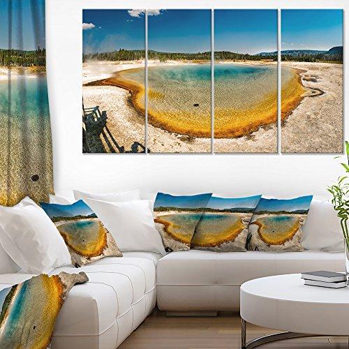 e Heat Pool Panorama-Landscape Print Wall Artwork-48x28 4 Piece-PT11332-271, 28'' Hx48'' Wx1'' D 4P ()