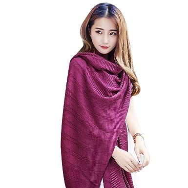 6957969b7839 SAN QIAN WAN- Drape Echarpe Femme Echarpe en polyester à la longue et longue  longueur