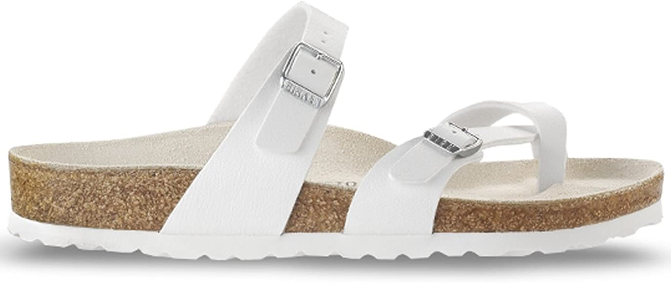 Women's Mayari Adjustable Toe Loop Cork Footbed Sandal White 38 Medium EU