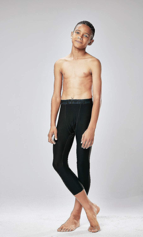 X-Large, Black//Red 2 Packs DEVOPS Boys 3//4 Compression Cool Dry Tights Baselayer Running Active Leggings Pants