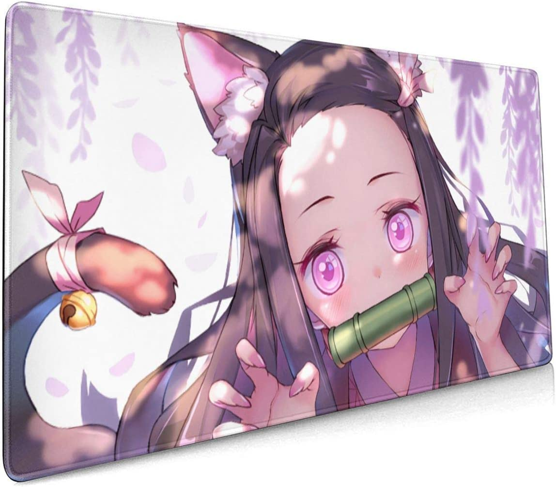 Nezuko Kamado Cute Kimetsu No Yaiba 15.8x35.5 in-inch Large-Scale Competitive Game/&Office/&Console Mouse Pad