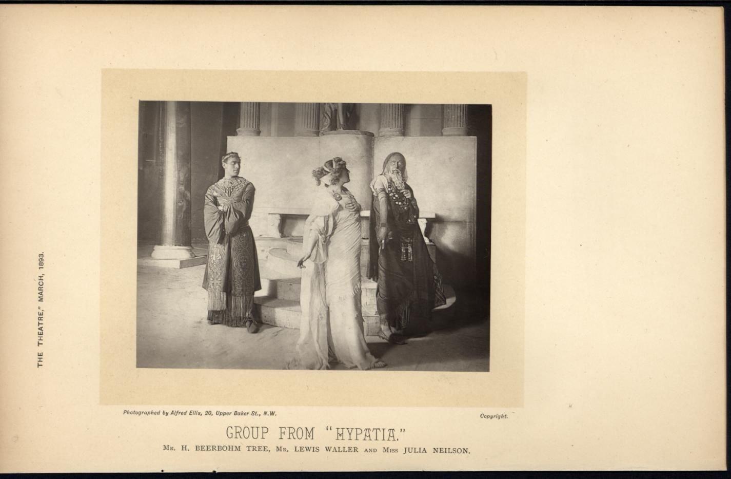 Beerbohm Lewis Waller Julia Neilson Thespians 1893 scarce antique theatre photo
