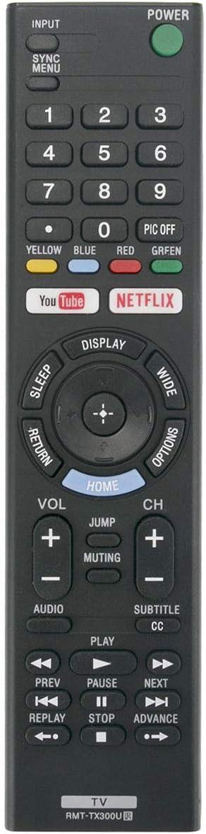 RJMom New RMT-TX300U Replaced Remote for Sony TV KD-55X720E KD-49X700E KD-60X690E
