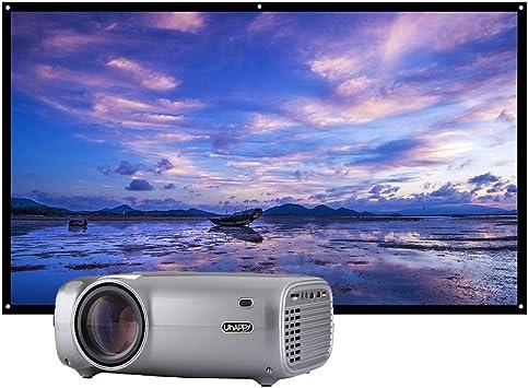 Docooler Uhappy U43 LED LCD proyector 1080P Cine en casa 2600 lúmenes 200 Pulgadas tamaño de proyección 1280 * 720P 1300: 1 relación de Contraste y 100 Pulgadas HD 16: 9 proyector portátil: Amazon.es: Electrónica