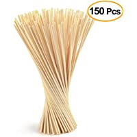 FEPITO 150 Pcs Reed Diffuser Sticks Oil Aroma Diffuser Sticks Wood Rattan Reed Sticks