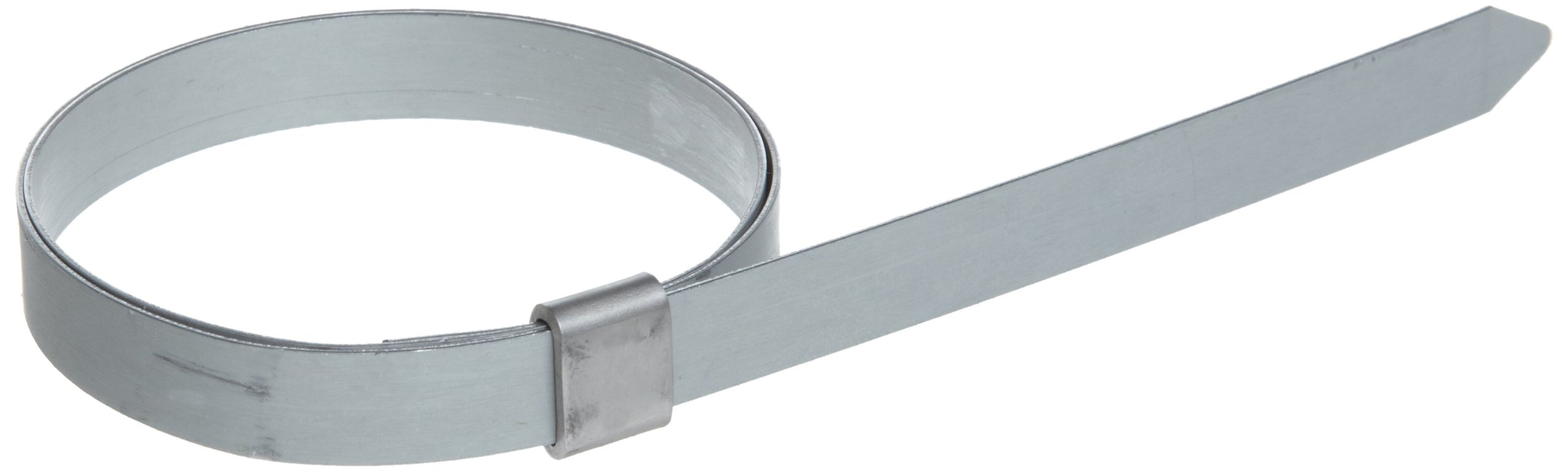 BAND-IT JS3459 Junior 3/8'' Wide x 0.025'' Thick, 2'' Diameter, Galvanized Carbon Steel Smooth I.D. Clamp (100 Per Box)