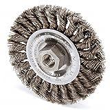 Weiler 13119 Standard Twist Knot Wire Wheel, 4'', 0.20'' Steel Fill, 1/2''-13 UNC Nut (Pack of 5)