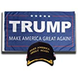 732efa37c2d Ezone Make America Great Again Hat with Trump Flag Make America Great Again  2016 Flag