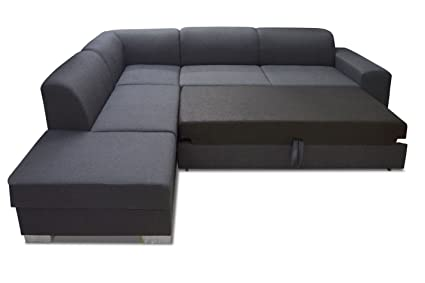 Swell Elmo Corner Sofa In Black Ottoman With Bed Function And Camellatalisay Diy Chair Ideas Camellatalisaycom