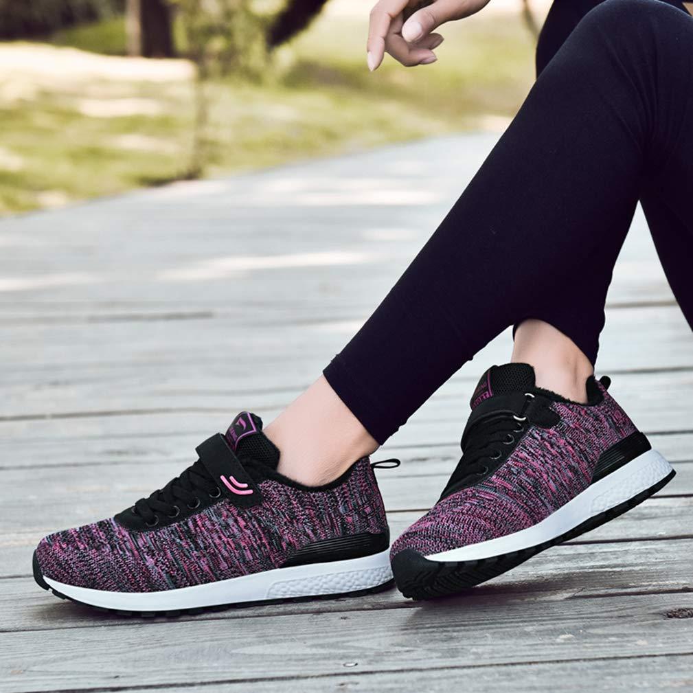 JOYBI Women Winter Wedges Sneakers Hook Loop Trainers Comfortable Slip On Casual Running Walking Shoes