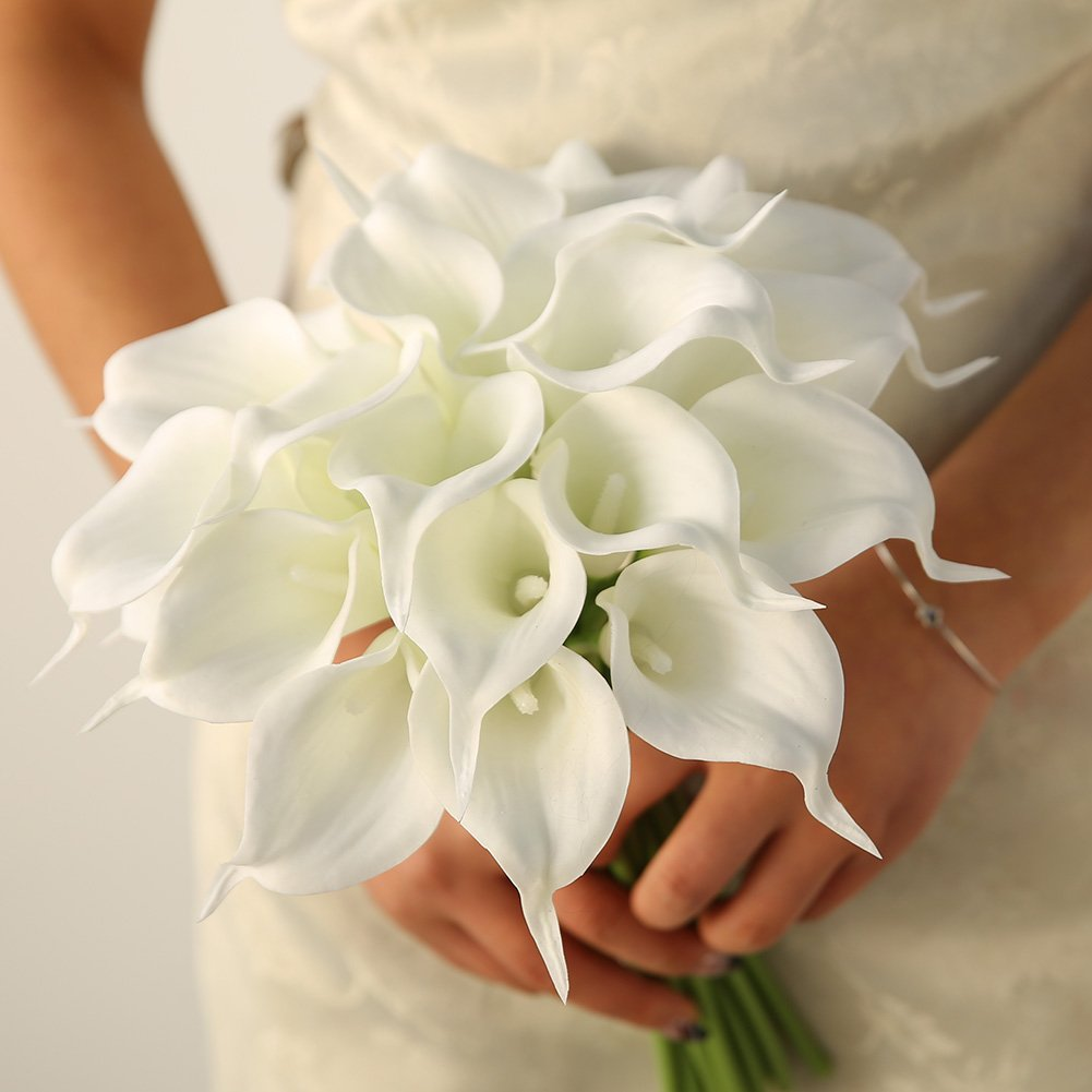 Luyue calla lily bridal wedding bouquet head lataex real touch luyue calla lily bridal wedding bouquet head lataex izmirmasajfo