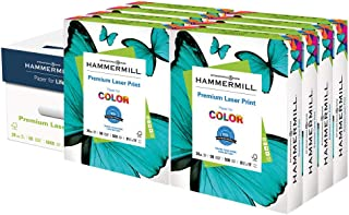 product image for Hammermill Printer Paper, Premium Laser Print 28 lb, 8.5 x 11-8 Ream (4,000 Sheets) - 98 Bright, Made in the USA