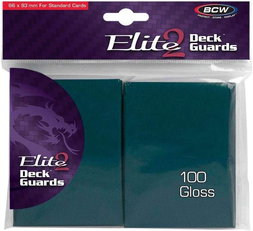 Elite 2 Gloss Card Sleeves - Teal (100) [並行輸入品]