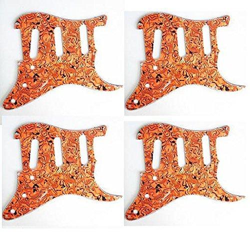 Kmise Z2242 4ピース 3層 ピックガード スクラッチプレート フェンダー ストラット ギター 交換用 アメリカ標準   B00ROYWIUU