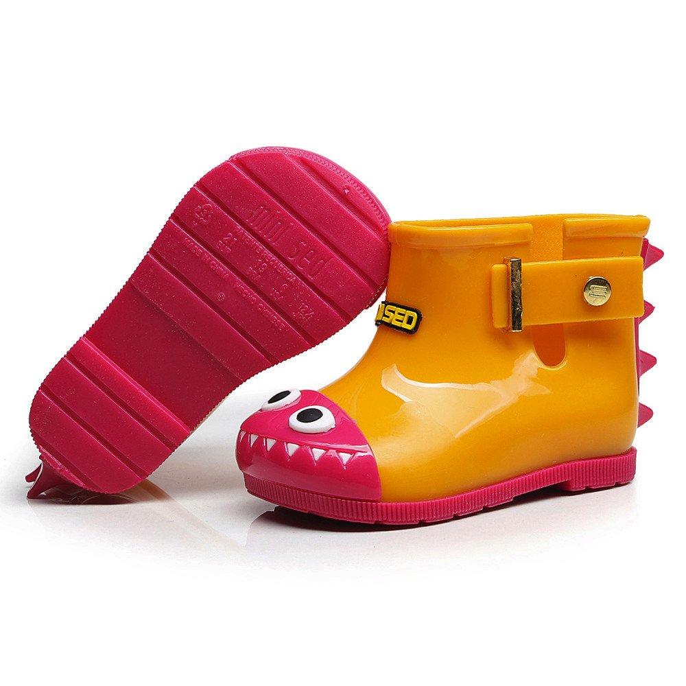 Botas de Agua Ni/ño ❤️ Zolimx Chicos Chicas Botas de Lluvia Botas de Agua para Ni/ñas Moda Muy Ligera Impermeable Anti-Deslizante Arco Zapatos Rain Boot