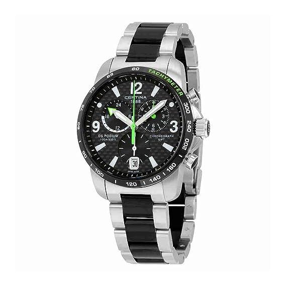 Certina - Reloj de Cuarzo para Hombre, correa de Acero inoxidable color Gris: Amazon.es: Relojes