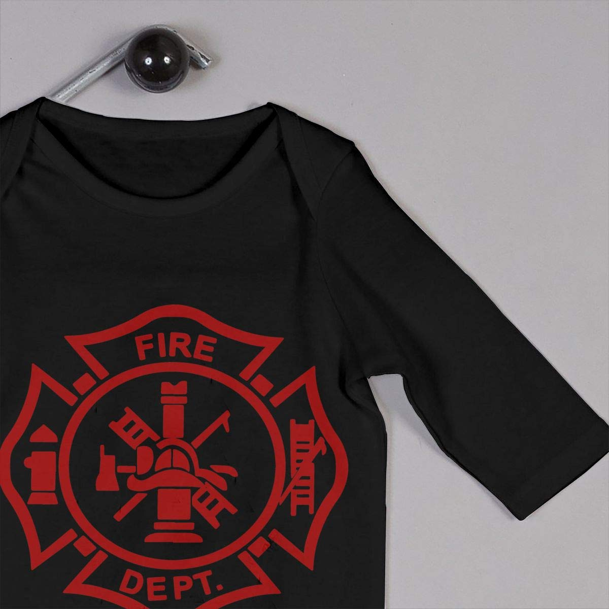 UGFGF-S3 Firefighter Baby Boy Girl Long Sleeve Bodysuit Bodysuits